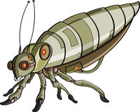 Cartoon robotic insect Stock Photos