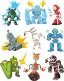 Cartoon robots icon vector illustration