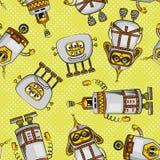 Cartoon Robots Seamless Royalty Free Stock Image