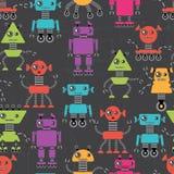 Cartoon robots seamless pattern Stock Photos