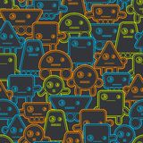 Cartoon robots seamless pattern Stock Images