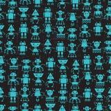 Cartoon robots seamless pattern Royalty Free Stock Photography