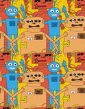 Cartoon robots seamless pattern Royalty Free Stock Image