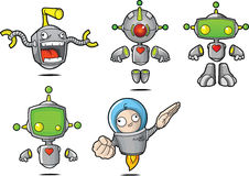 Cartoon Robots Royalty Free Stock Photos