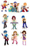 Cartoon rock band icon Royalty Free Stock Photo
