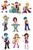 Cartoon Rock Band Icon Royalty Free Stock Photo