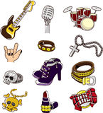 Cartoon rock element Royalty Free Stock Image