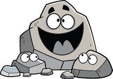 Cartoon Rock Family Stock Images