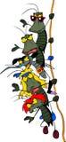 Cartoon Rock Group Of Bugs Royalty Free Stock Photo