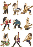 Cartoon Rock music band icon Stock Image