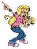 Cartoon Rock n Roll woman Stock Images