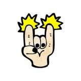 cartoon rock sign symbol Royalty Free Stock Photography