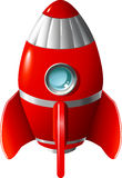 Cartoon rocket Stock Images