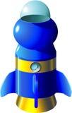 Cartoon rocket. Rocket in cartoon style as a illustration vector illustration