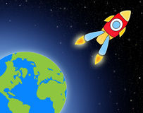 Cartoon rocket Royalty Free Stock Image