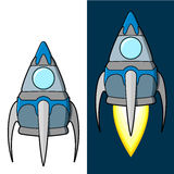 Cartoon rocket Royalty Free Stock Images