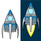 Cartoon rocket Royalty Free Stock Images
