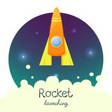 Cartoon rocket 3D vector illustration set Stock Photography