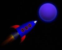 Cartoon rocket. Stock Photo