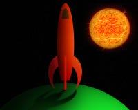 Cartoon rocket. Royalty Free Stock Photo