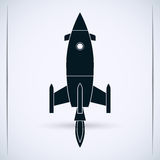 Cartoon rocket Royalty Free Stock Photography