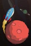 Cartoon rocket Royalty Free Stock Photo