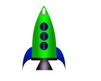 Cartoon rocket. Stock Image