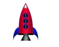 Cartoon rocket. Royalty Free Stock Images