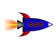 Cartoon rocket. Stock Photos