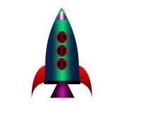 Cartoon rocket. Royalty Free Stock Image