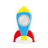 Cartoon Rocket Isolated On White Background Royalty Free Stock Photo
