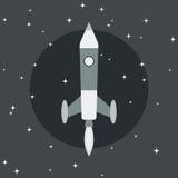 Cartoon rocket launch Stock Photo