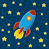 Cartoon rocket Stock Photos