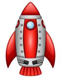 Cartoon rocket spaceship isolated on white background. Illustration of Cartoon rocket spaceship isolated on white background Royalty Free Illustration