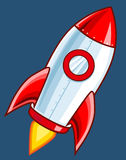 Cartoon Rocket Stock Photography