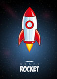 Cartoon Rocket Royalty Free Stock Photo