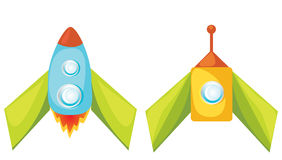 Cartoon rockets. Royalty Free Stock Image