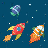 Cartoon rockets illustration Royalty Free Stock Image