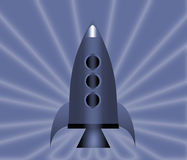 Cartoon rockets. Cartoon rockets over a colorful background Stock Photography