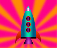 Cartoon rockets. Royalty Free Stock Photo