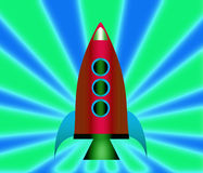 Cartoon rockets. Cartoon rockets over a colorful background Royalty Free Stock Image