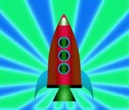 Cartoon rockets. Royalty Free Stock Image