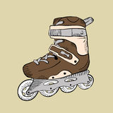 Cartoon roller skate Stock Photography