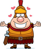 Cartoon Roman Centurion Hug Royalty Free Stock Image