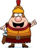 Cartoon Roman Centurion Idea. A cartoon illustration of a Roman Centurion with an idea Stock Image