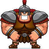 Cartoon Roman Centurion. A cartoon illustration of a muscular Roman Centurion in armor smiling Royalty Free Stock Photo