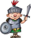 Cartoon Roman legionary with sword and shield Stock Photography