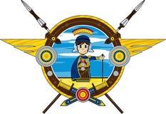 Cartoon Roman Soldier Stock Photo