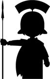 Cartoon Roman Soldier Silhouette Stock Images