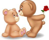 Cartoon romantic couple of teddy bears Stock Photo